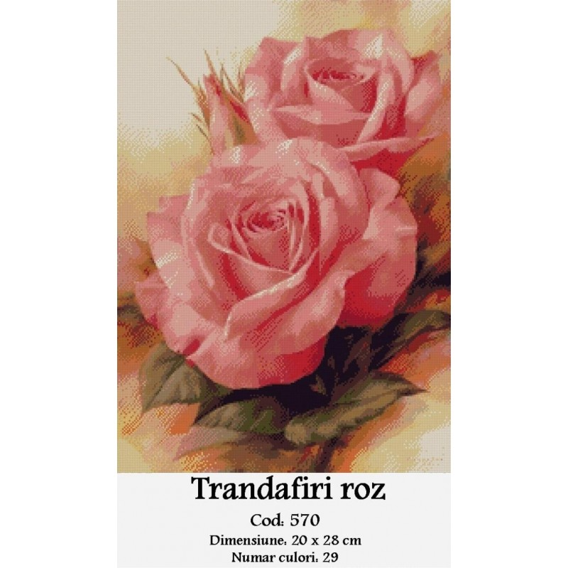 Concurs Craciun 2014 - Set Goblen Romania Trandafiri-roz