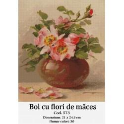 Bol cu flori de maces