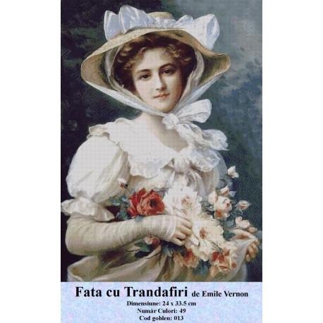 Fata cu Trandafiri de Emile Vernon