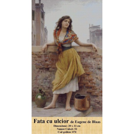 Fata cu ulcior de Eugene de Blaas