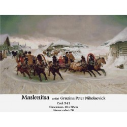 Maslenitsa artist Gruzina Peter Nikolaevick