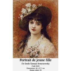Portrait de jeune fille  de Emile Eisman Semenowsky