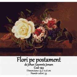 Flori pe postament