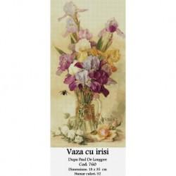 Vaza cu irisi de Paul Delongpre