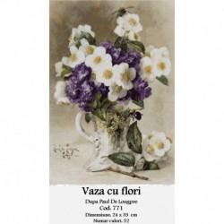 Vaza cu flori de Paul Delongpre