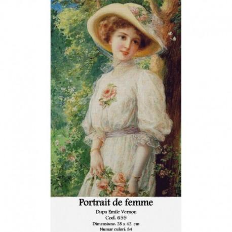 Portrait de femme de Emil Vernon