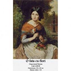 Set goblen - O fata cu flori de Josef Boros