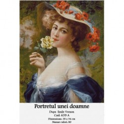 Set goblen - Portretul unei doamne dupa Emile Vernon