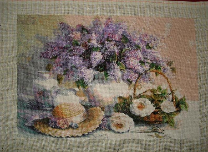 Goblen Cusut - Flori de liliac