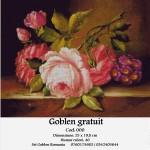 Goblen – diagrame gratuite – Trandafiri pe postament