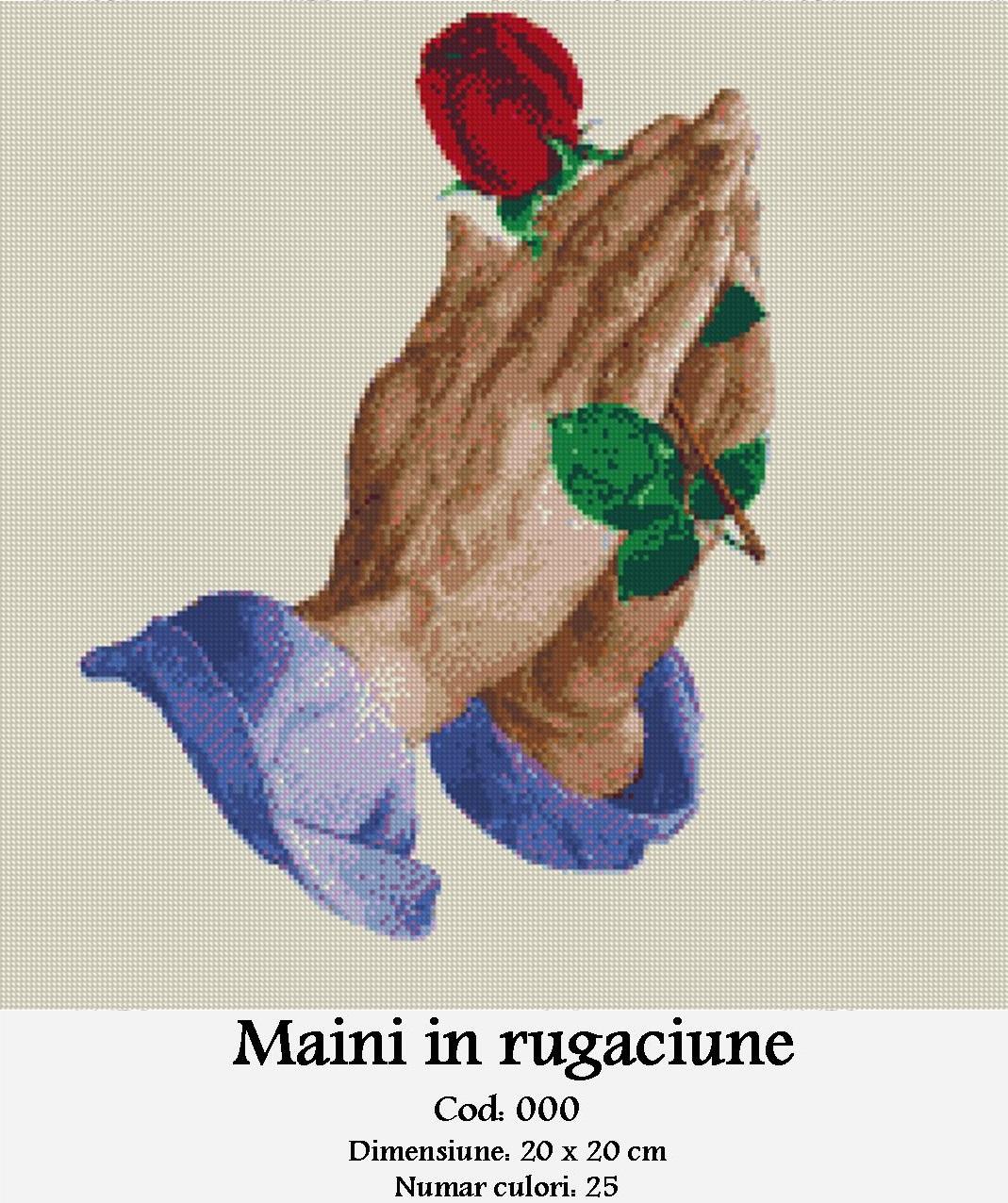 Mâini în Rugăciune – Diagrame Goblen Gratuite
