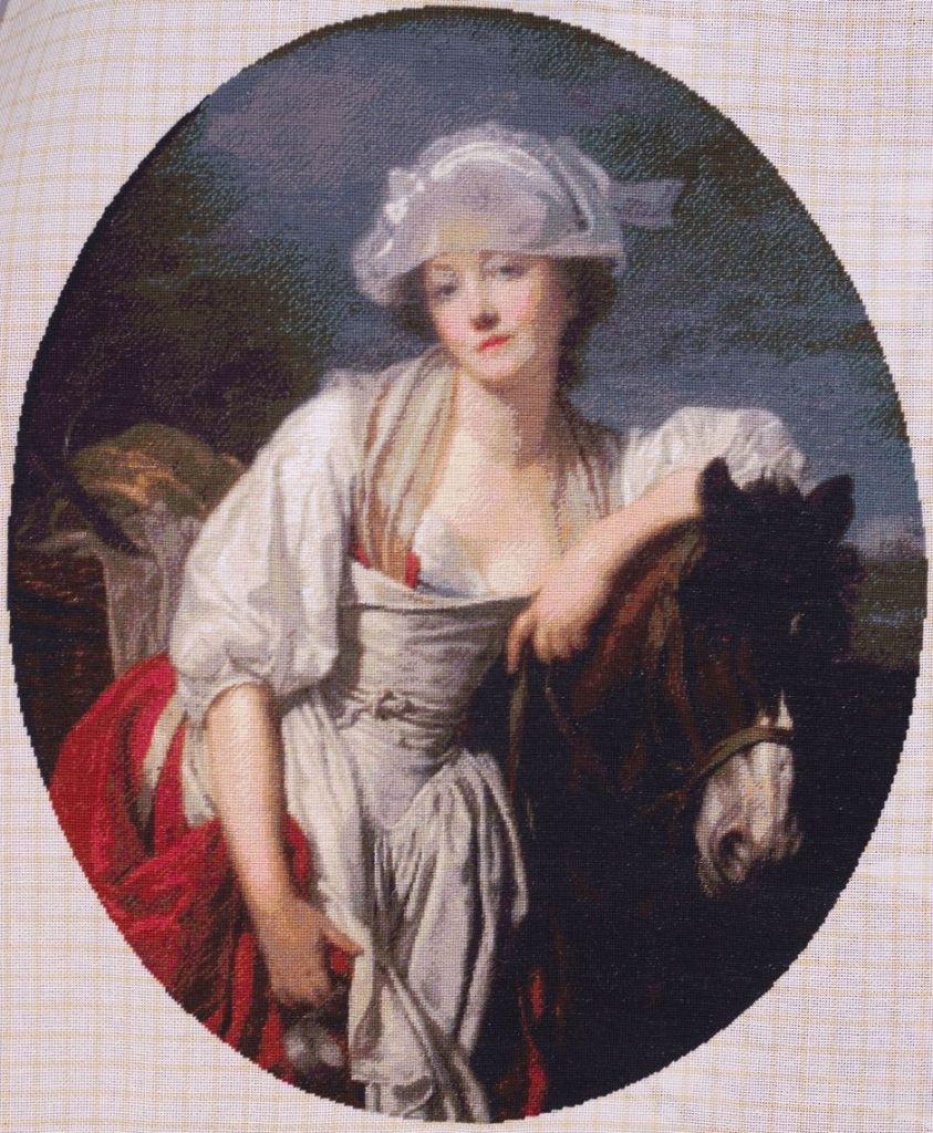 Cheval lalhaitiere, Emile Vernon, 1164 cm patrati, 58 culori
