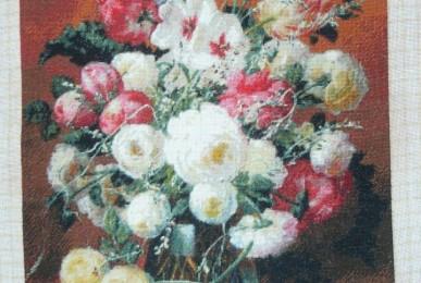 Fata Goblen - Pahar cu Flori
