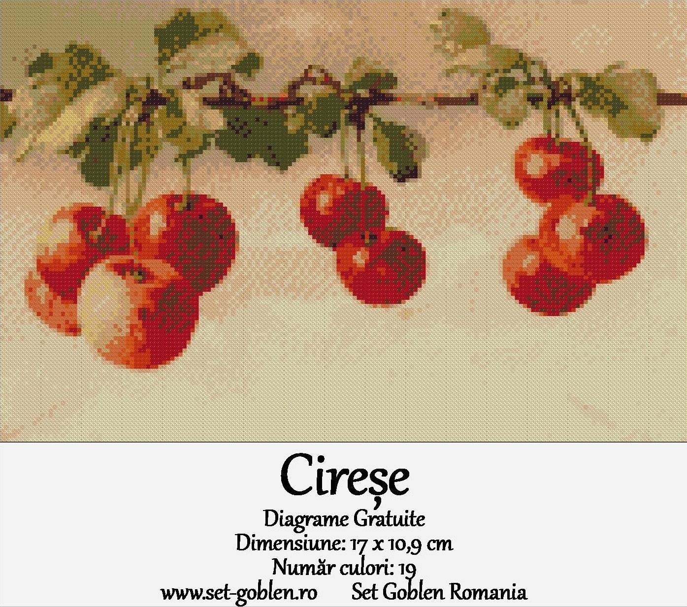 Diagrame goblen gratuite – Cireșe