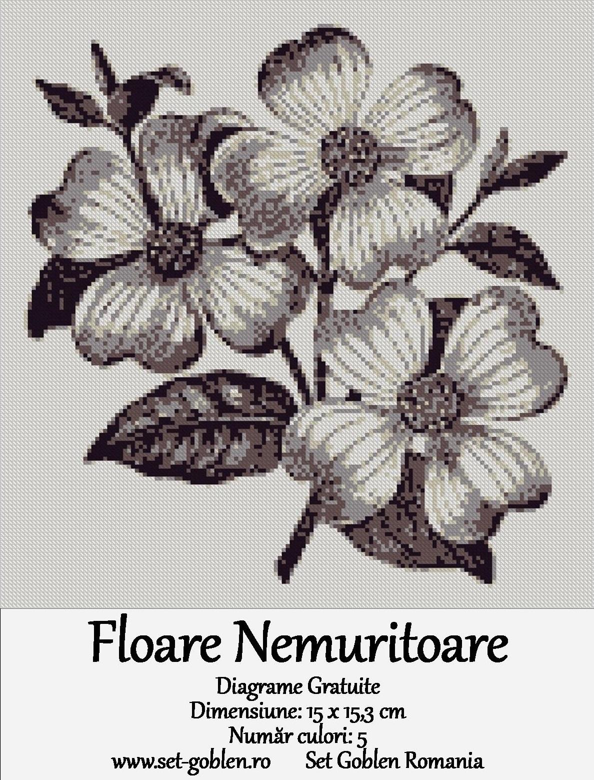 Floare nemuritoare – Diagrame Goblen – Gratis
