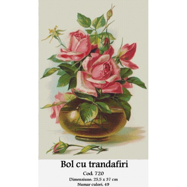 Kit goblen – Bol cu Trandafiri