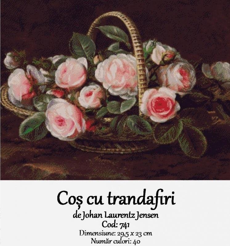 Set Goblen – Coș cu Trandafiri
