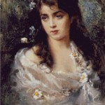 "Kit goblen – ""Girl Dressed as Flora"" de Konstantin Makovsky"