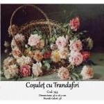 Coșuleț cu Trandafiri – set goblen pentru cusut