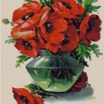 Set goblen – Vaza cu maci