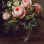 Kit Goblen – Vază cu trandafiri roz
