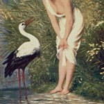 Kit goblen – Young girl and stork