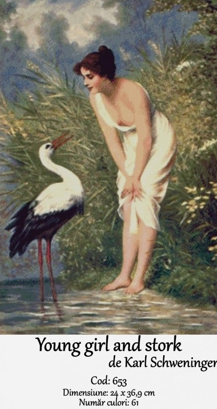 young-girl-and-stork