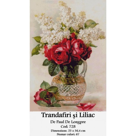 Trandafiri si Liliac de Paul De Longpre