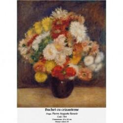Set goblen - Buchet cu crizanteme dupa Pierre Auguste Renoir