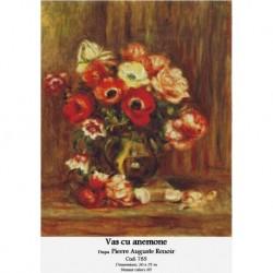 Set goblen - Vas cu anemone dupa Pierre Auguste Renoir