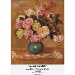 Set goblen - Vas cu trandafiri dupa Pierre Auguste Renoir