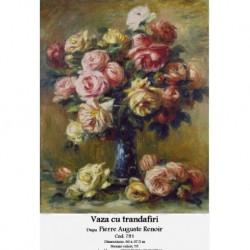 Set goblen - Vaza cu trandafiri dupa Pierre Auguste Renoir
