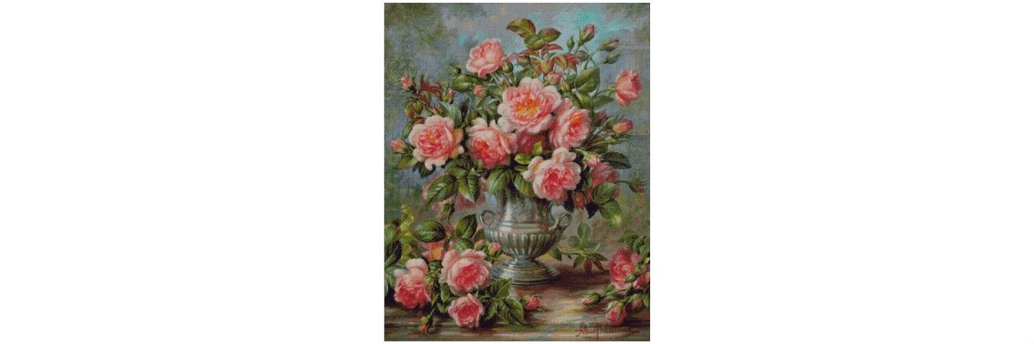 Goblen cusut – Trandafiri