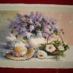Goblen cusut – Flori de liliac