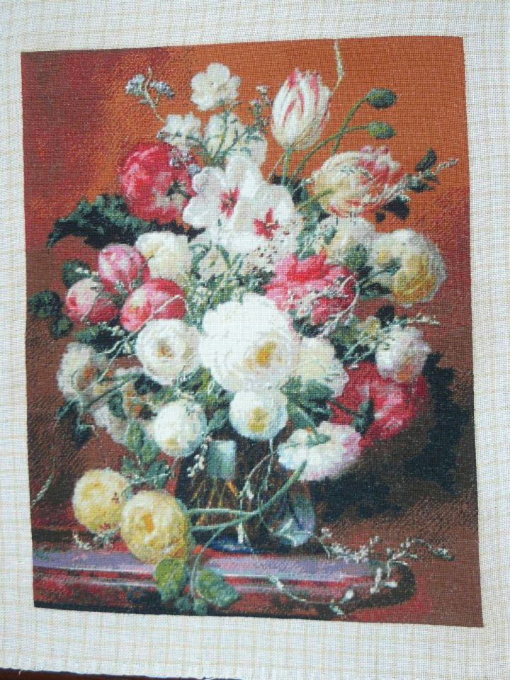 Goblen cusut – Pahar cu Flori