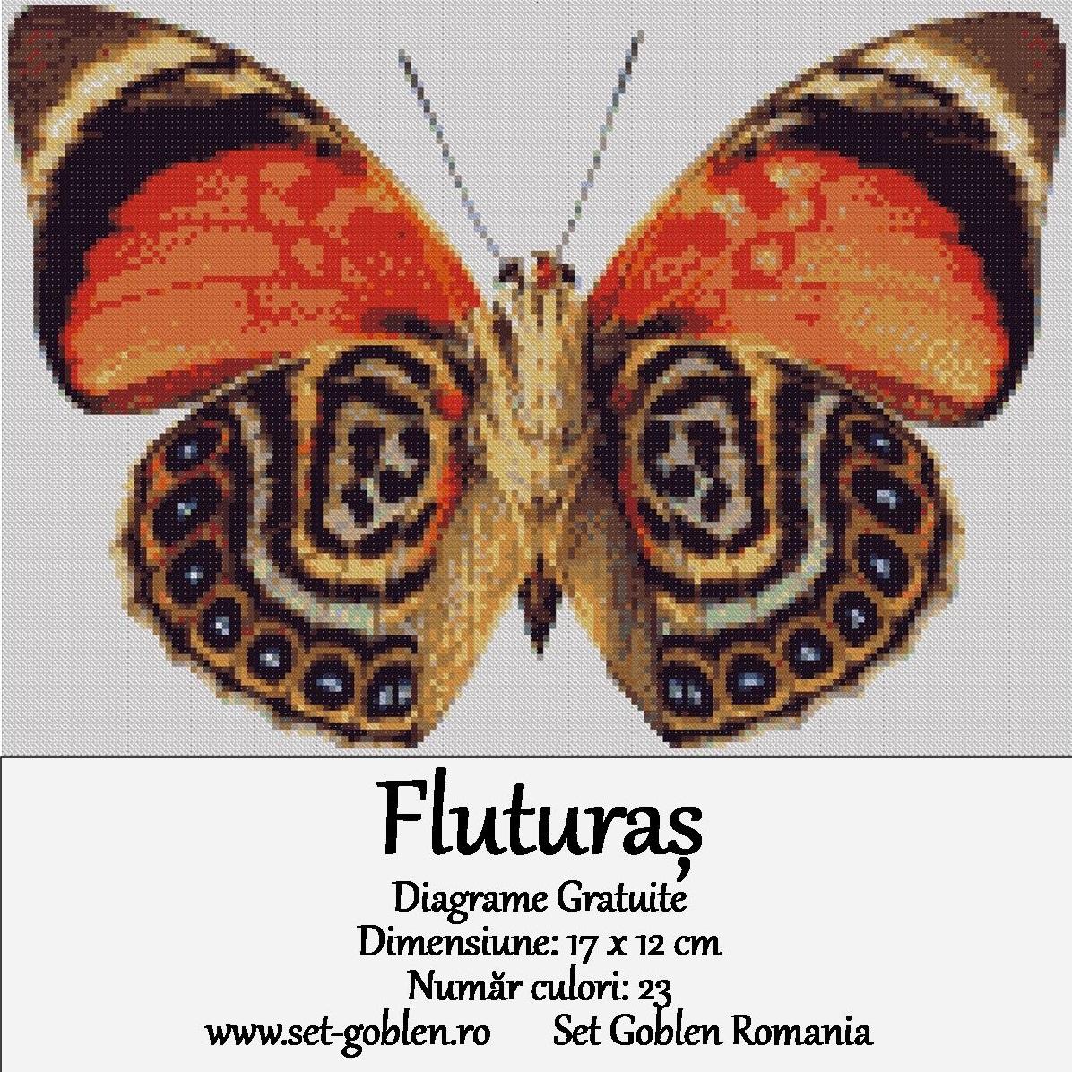Kit goblen – Fluturaș – diagrame gratuite